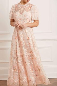 Isadora Gown – Pink | Needle & Thread