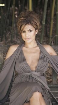 Eva Mendes #celebstylewed #bridal #hair