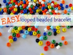 Step by step tutorial for fancy-ish  beaded bracelets for kids. Great summer craft.
