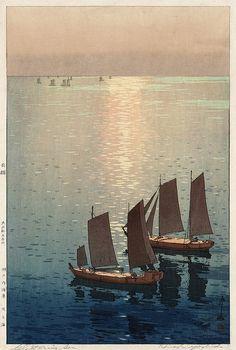Hiroshi Yoshida - Hikaru umi (the sparkling sea) 1926