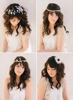 Pretty Bridal Hairpieces from Lo Boheme