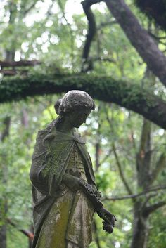 ☫ Angelic ☫  winged cemetery angels and zen statuary - Greenwood Cemetery, Shreveport, LA