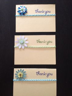 thank you cards handmade, card diy, ribbon, card handmad, flower