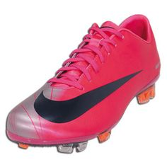 My soccer cleat! coral colored