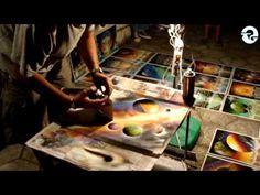 Spray Paint Art - Space Pyramids  by: Trasher