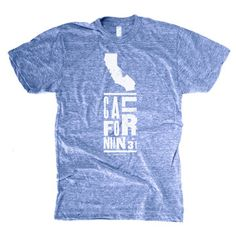 California Tee Men's Blue, $23, now featured on Fab.