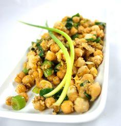 Recipe Vegan Sesame chickpeas Vegetarian Easy Quick Dinner Healthy Side Dish