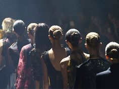 Backstage at Lanvin, we got a TON of cool new hair ideas