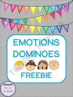 Emotions Dominoes Freebie from TheSLTScrapbook on TeachersNotebook.com -  (12 pages)  - The game contains 42 domino cards, containing a mixture of emotions pictures.  The emotions included in this pack are: happy, sad, angry, surprised, scared, excited, worried, embarrassed, frustrated