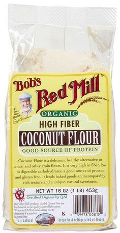 Bob's Red Mill Organic Coconut Flour. #glutenfree