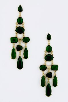 Emerald Deco Statement Earrings | Awesome Selection of Chic Fashion Jewelry | Emma Stine Limited