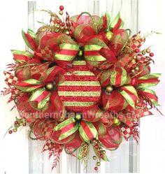 deco mesh christmas decorations   Deco Mesh Wreath   Christmas Craft/Ideas