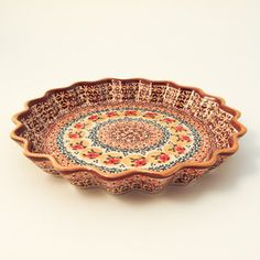 """Fluted Pie Plate 10.25"""" Bledow"""