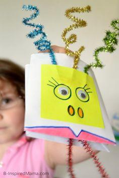 Muppet Inspired Envelope Puppet Craft - #sponsored #MuppetsMostWanted - B-InspiredMama.com #kids #kidscraft #kbn