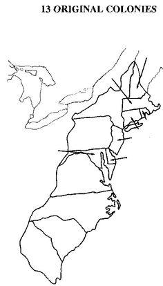13 colonies map worksheet printable sketch coloring page for 13 colonies map coloring page