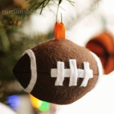 Make a football, baseball, or basketball tree ornament for the sports fan in your life.