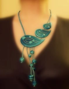 POLYMER CLAY Necklace, very nice!