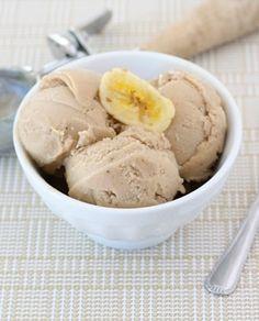 Peanut Butter and Banana Ice Cream