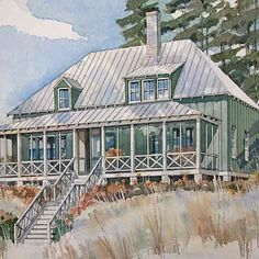 18 Small House Plans Under 1,800 Square Feet    --St. Simons Retreat, Plan #256