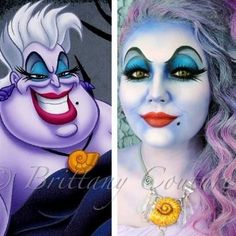 An Amazing Halloween makeup tutorial for Disney character Ursula. See the video on how she does the look.