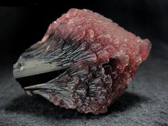 """Mushroom"" elbaite (var. Rubellite), 4.2 cm long Momeik, Mogok, Sagaing District, Mandalay Division, Burma"