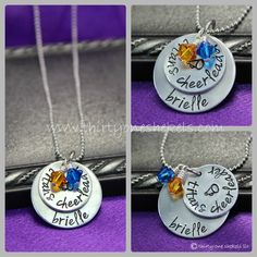 Cheer Mom Jewelry | Cheer Necklace, Hand Stamped Cheer Necklace, Cheer Mom Necklace ...