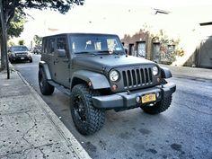 matte grey Jeep