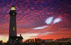 Beautiful lighthouse sunset!