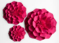 Wallflowers for Megan wall flowers, felt flowers