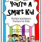 FREE! Cute set of 9 posters based on Howard Gardner's Multiple Intelligences. Posters are in kid smart language: nature smart, art/picture smart, logic smart, word smart, self smart, people smart, music smart, and body smart. There is also a poster that explains the 8 intelligences.