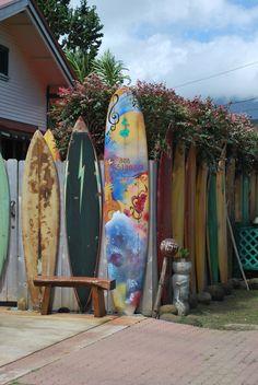 Surf board fence~Kauai