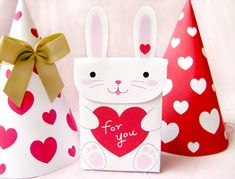 My bunny Valentine : ) printable favor bag