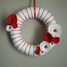 Peppermint Delight Wreath from Etsy