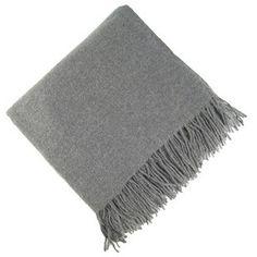 grey cashmere throw