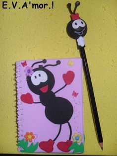 Caderneta e ponteira de Lápis em E.V.A R$ 15,00