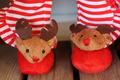 REINDEER PJS and slippers for American Girl Dolls and 18 inch Dolls are at www.harmonyclubdolls.com