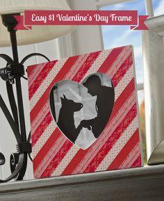 Easy $1 washi tape heart frame