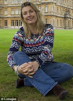 Lady Fiona Carnarvon outside her home Highclere Castle