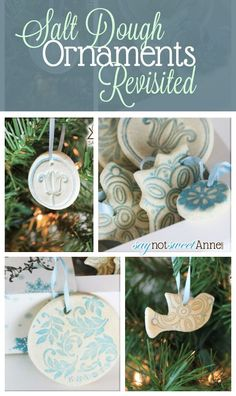 Salt Dough Ornaments | 36 Adorable Diy Ornaments You Can Make With The Kids