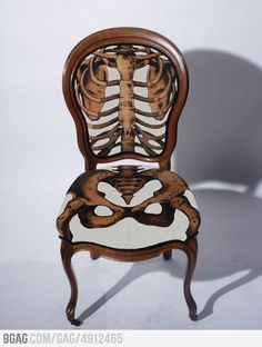 Skelechair interior design, wooden chairs, design homes, wood furniture, awesome furniture, decorated furniture, anatomical skull, anatom correct, decorate furniture