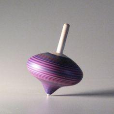 Purple & Pink striped spinning top turnip by davidturnsbowls