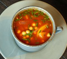 Chickpea Soup. Easy, Gluten-free, and healthy. #vegan #glutenfree #recipes