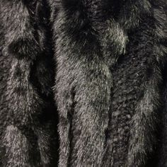 Close up of faux fur that will appear as part of the #HMStudioAW14 collection during Paris Fashion Week.