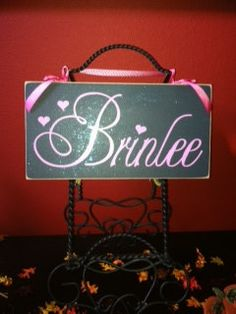 Baby Name Signs. $20.00, via Etsy... What a pretty name!!