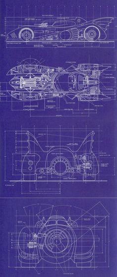 Batmobile blueprints.