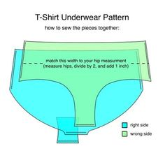 Want to recycle your old t-shirts into underwear?