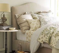 How to make a bed the way that Pottery barn does from Home by Heidi. http://thebigclockstore.com/category/blog/