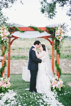 #chuppah, #canopy  Photography: Onelove Photography - onelove-photo.com  Read More: http://www.stylemepretty.com/2014/08/08/french-garden-inspired-wedding-at-carmel-valley-ranch/