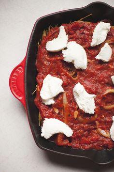skillets, cappellini pomodoro, noodl, recip, skilletbak cappellini