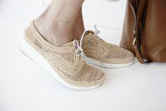 Summer woven shoes by Robert Clegerie
